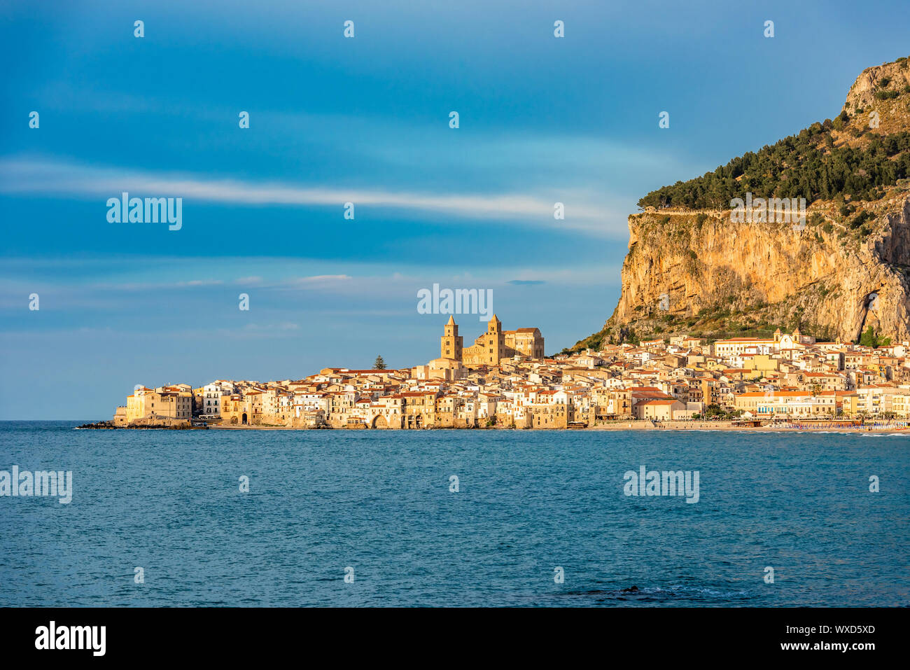 Cefalu, medieval village of Sicily island, Italy Stock Photo