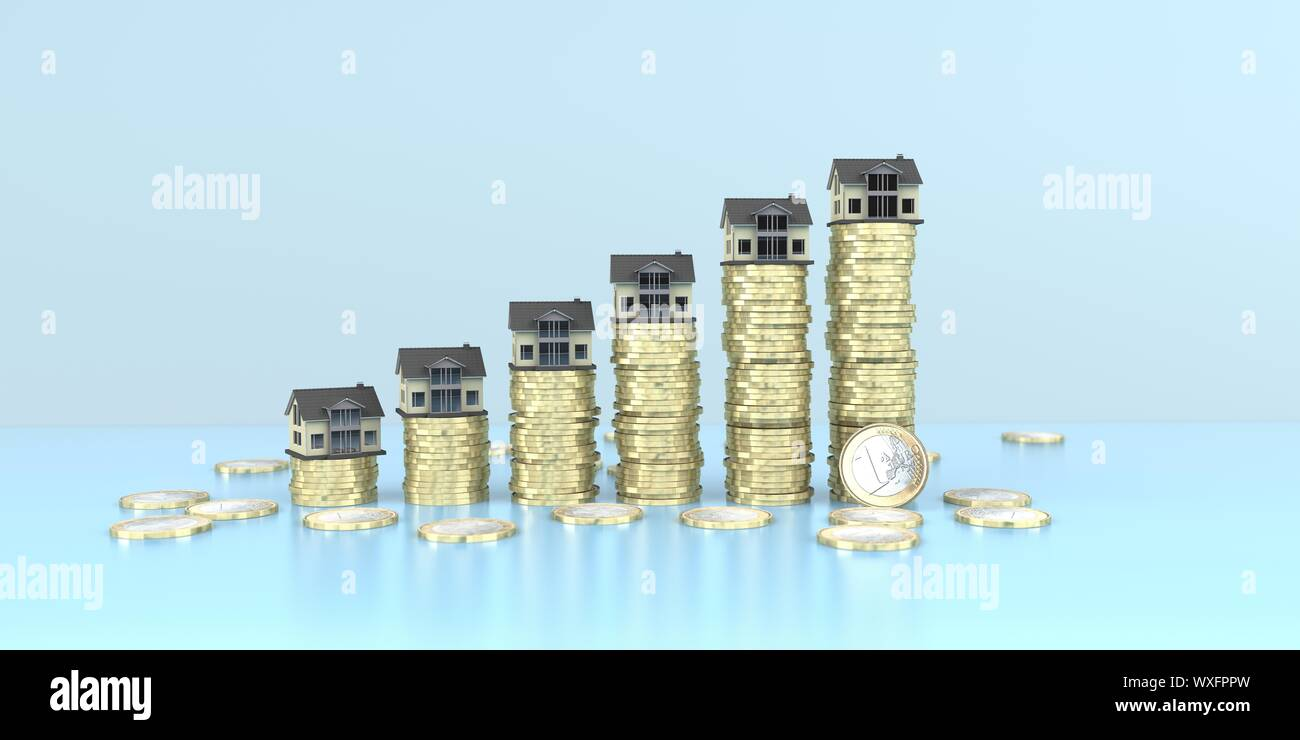 Real Estate Money Growth Chart Stock Photo