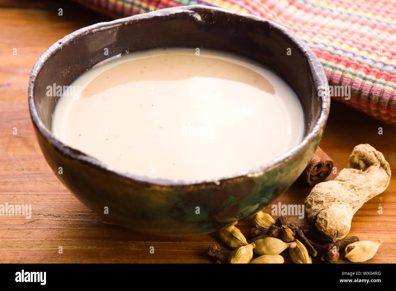 Masala chai Stock Photo