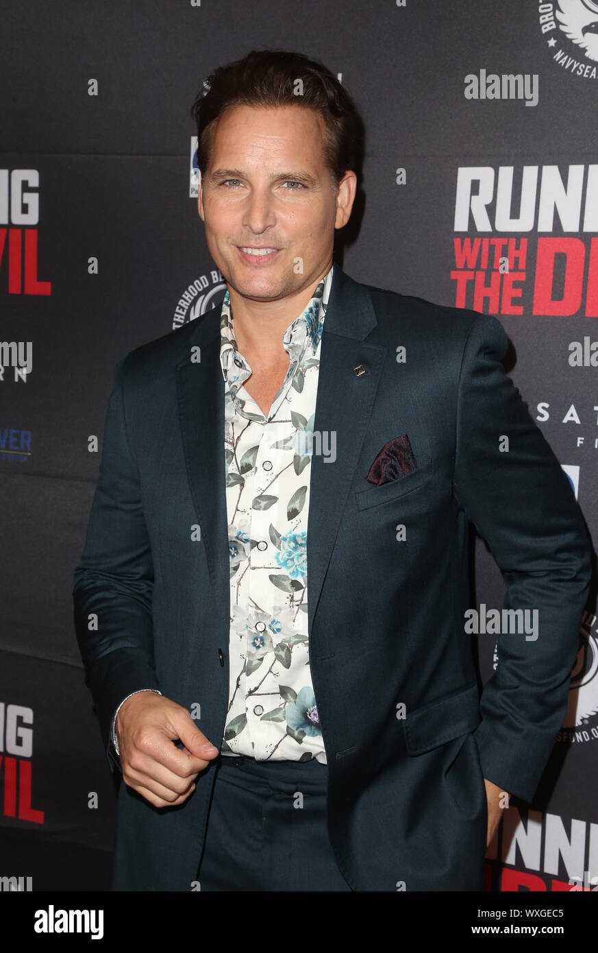 """Beverly Hills, Ca. 16th Sep, 2019. Peter Facinelli, at Premiere Of Quiver Distribution's """"Running With The Devil at Writers Guild Theater in Beverly Hills, California on September 16, 2019. Credit: Faye Sadou/Media Punch/Alamy Live News Stock Photo"""