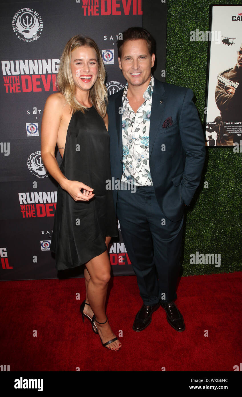 "Beverly Hills, Ca. 16th Sep, 2019. Peter Facinelli, Lily Anne Harrison, at Premiere Of Quiver Distribution's ""Running With The Devil at Writers Guild Theater in Beverly Hills, California on September 16, 2019. Credit: Faye Sadou/Media Punch/Alamy Live News Stock Photo"