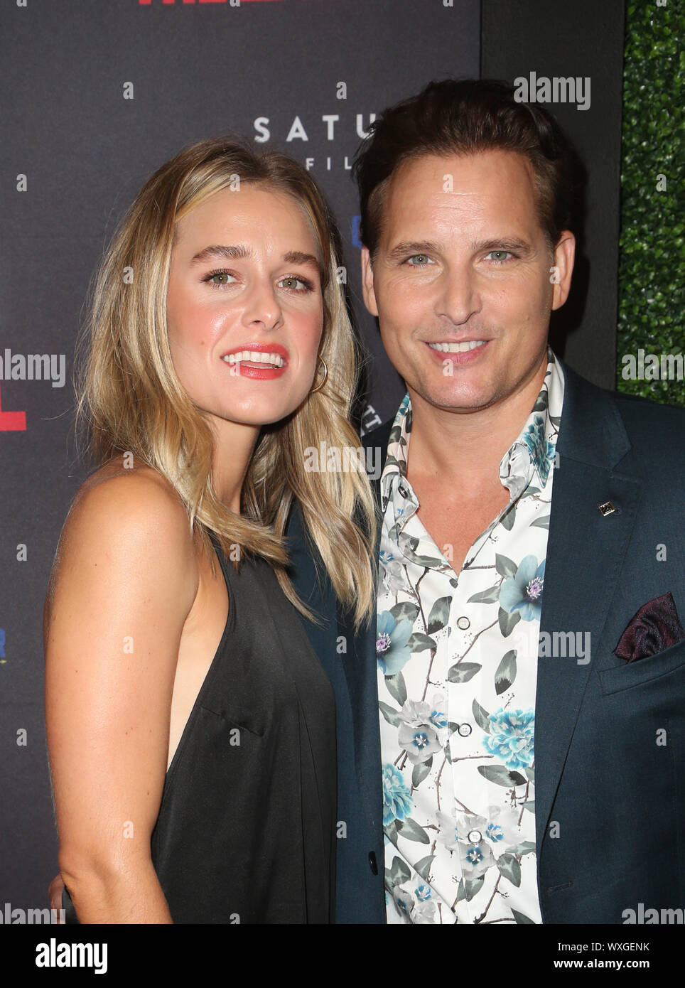 """Beverly Hills, Ca. 16th Sep, 2019. Peter Facinelli, Lily Anne Harrison, at Premiere Of Quiver Distribution's """"Running With The Devil at Writers Guild Theater in Beverly Hills, California on September 16, 2019. Credit: Faye Sadou/Media Punch/Alamy Live News Stock Photo"""