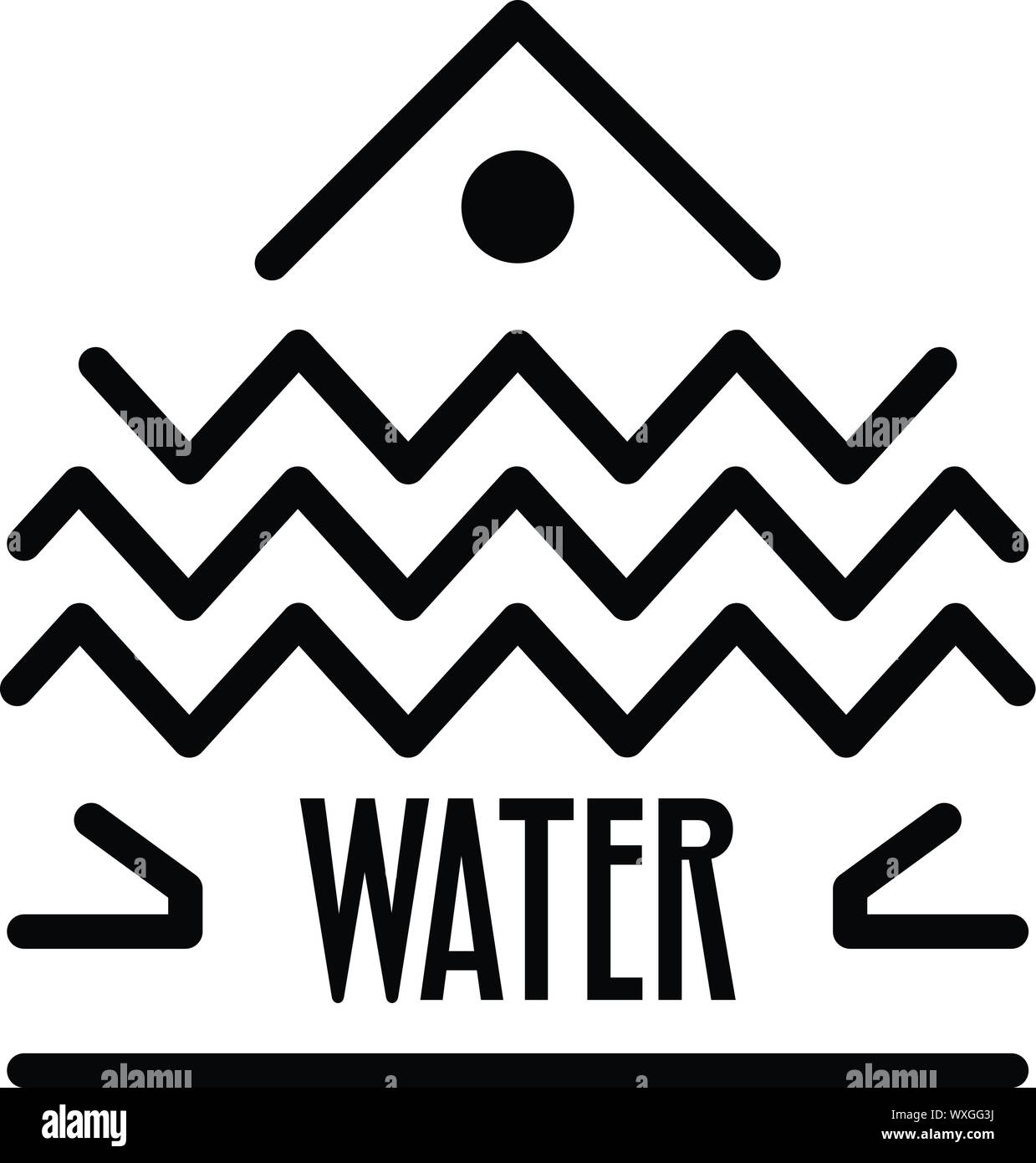 Water alchemy icon. Outline water alchemy vector icon for web design isolated on white background Stock Vector