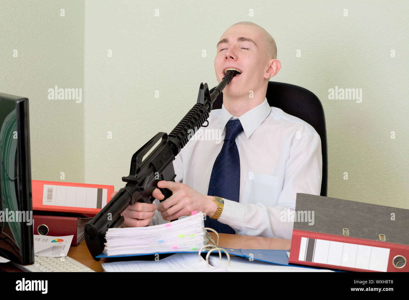 The bookkeeper shot at office on a workplace Stock Photo
