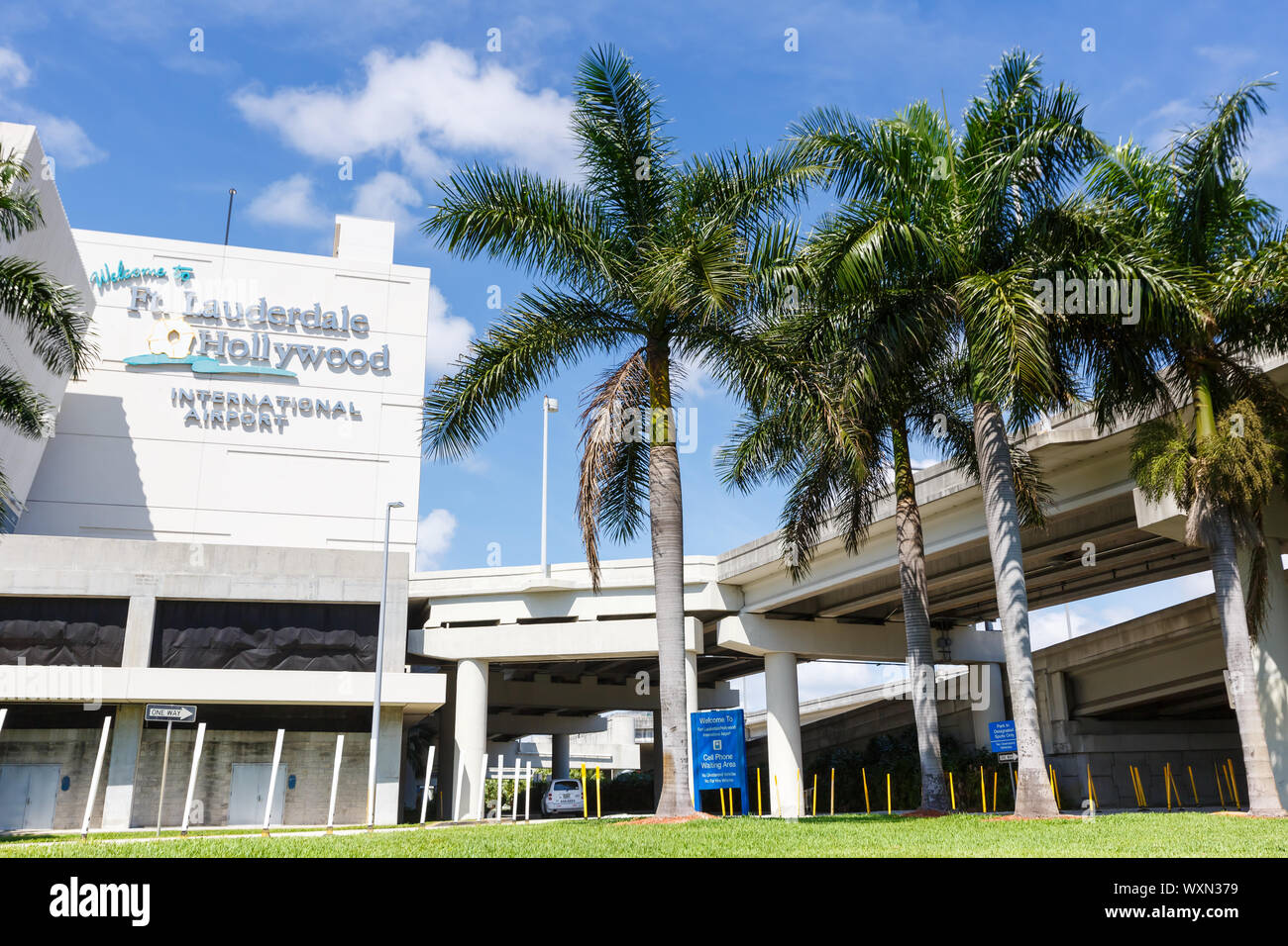 Fort Lauderdale, Florida – April 6, 2019: Logo of Fort Lauderdale airport (FLL) in Florida. Stock Photo