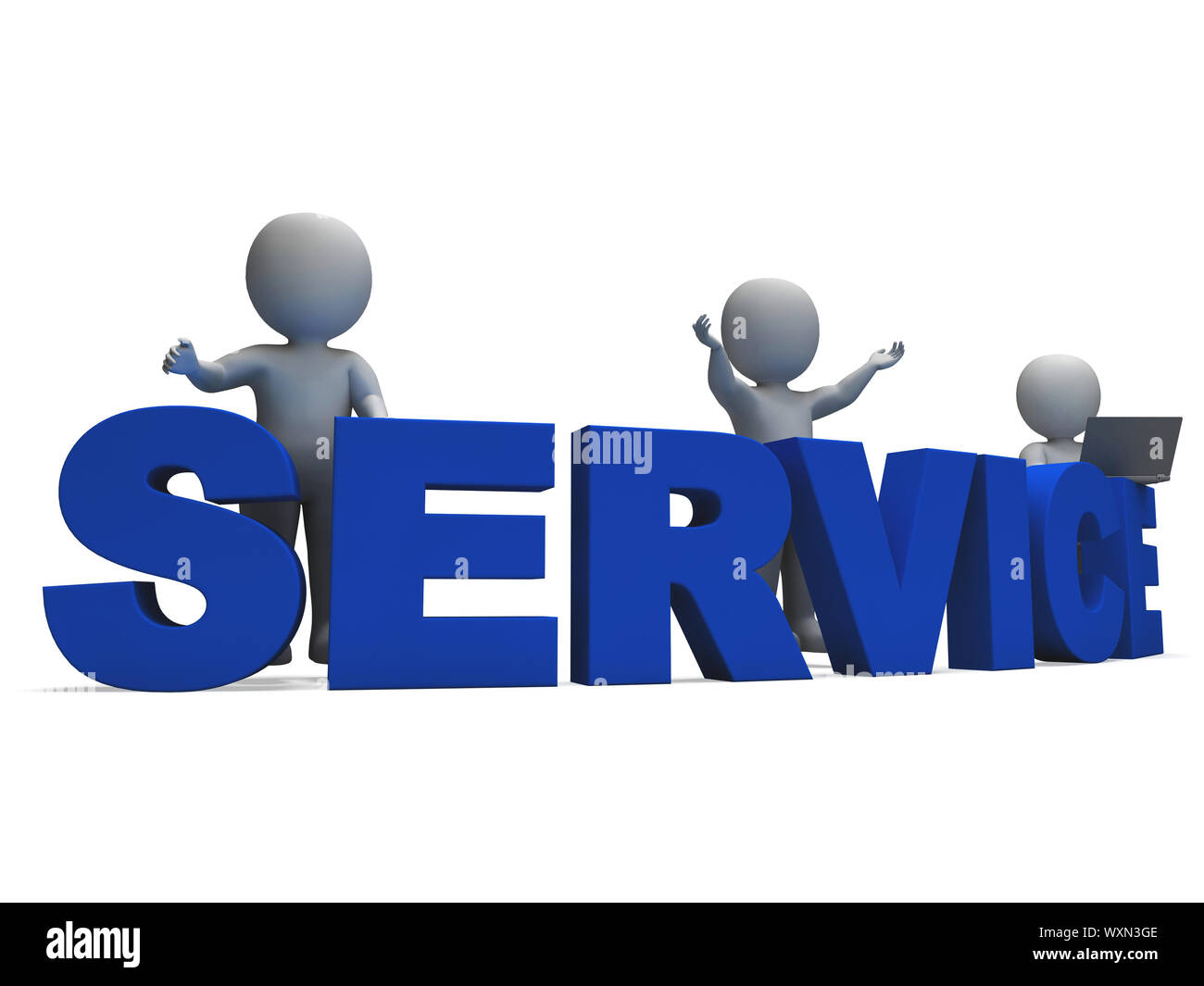Service Word Showing Assistance Helpline Or Helpdesk Stock Photo