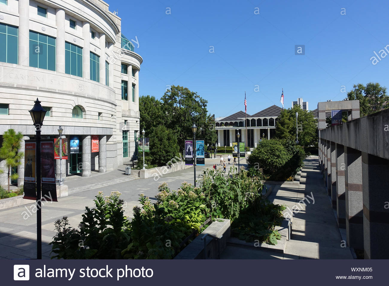 Bicentennial Plaza (Downtown Pedestrian Mall) in Raleigh, North Carolina Stock Photo