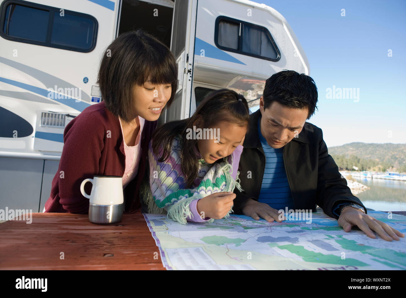 Family Road Trip Stock Photo