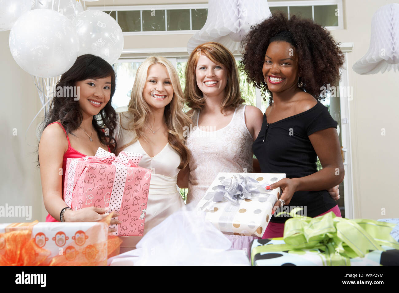Friends Together at Bridal Shower Stock Photo