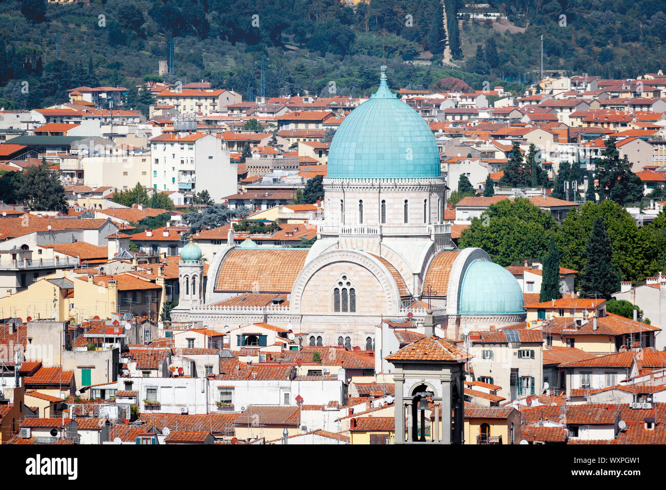 An image of the Synagogue in Florence Italy Stock Photo