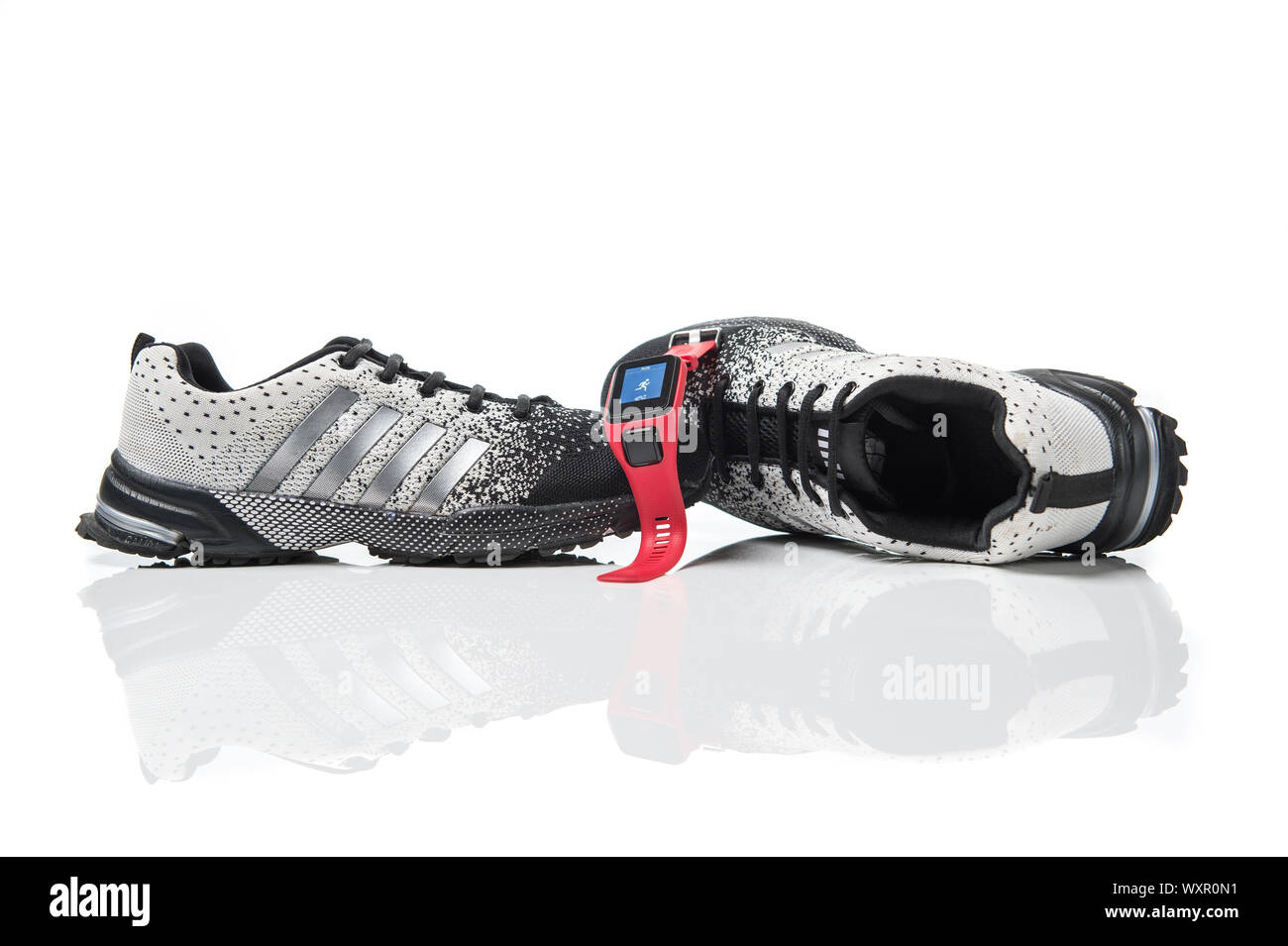 Running Shoes Banner Stock Photo