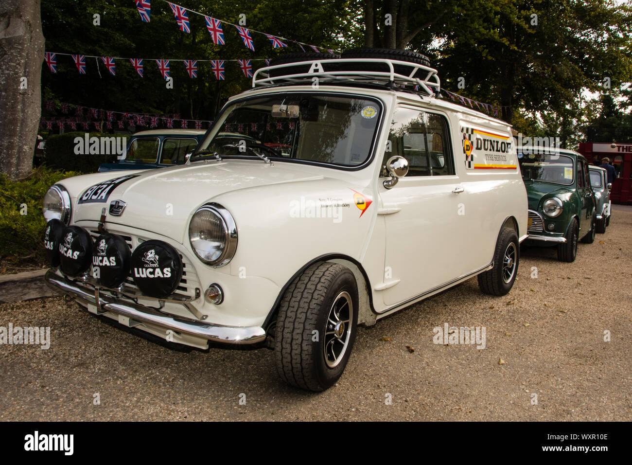 1960s White Mini Van Stock Photo