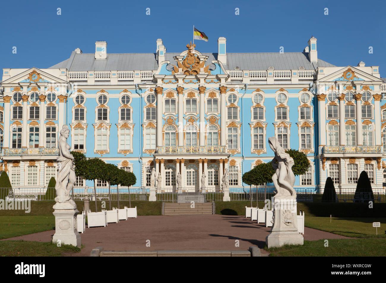 Catherine Palace, Catherine Park, Tsarskoe Selo, Pushkin, Russia. Stock Photo