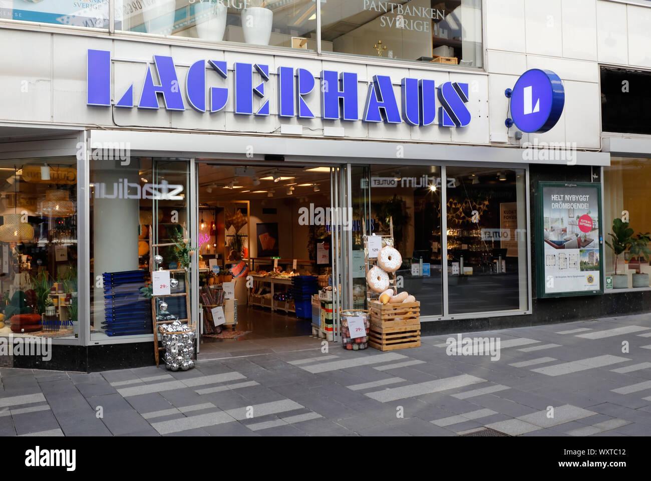 Stockholm, Sweden - September 10, 2019: The Lagerhaus home decoration store located at the Sergelarkaden street. Stock Photo