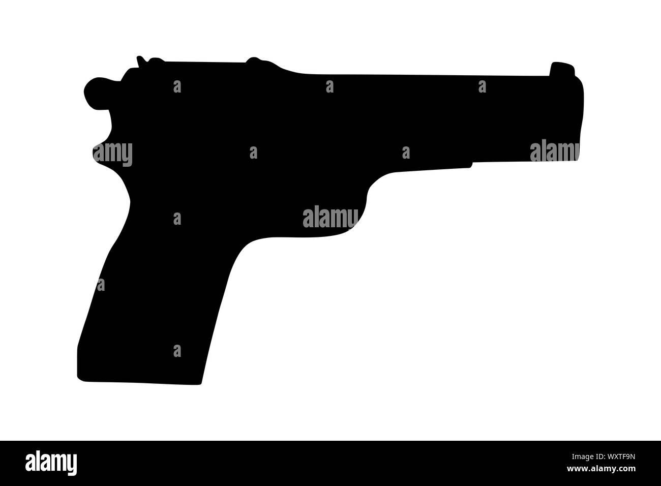 hand gun pistol vector illustration sign icon symbol logo etc stock photo alamy https www alamy com hand gun pistol vector illustration sign iconsymbollogo etc image274675457 html