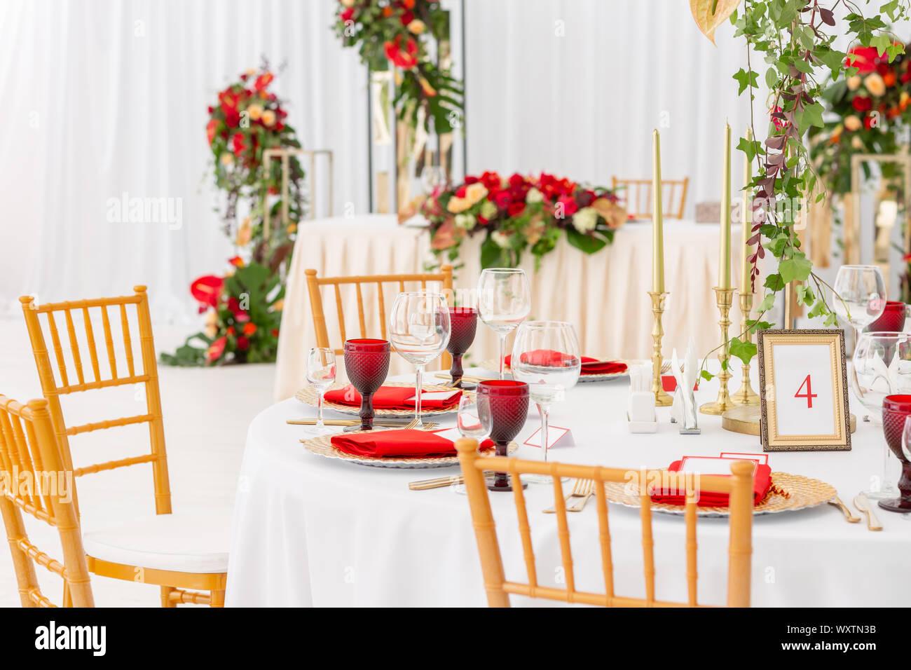 Red Decor Theme Beautiful Banquet A Wedding Reception Interior