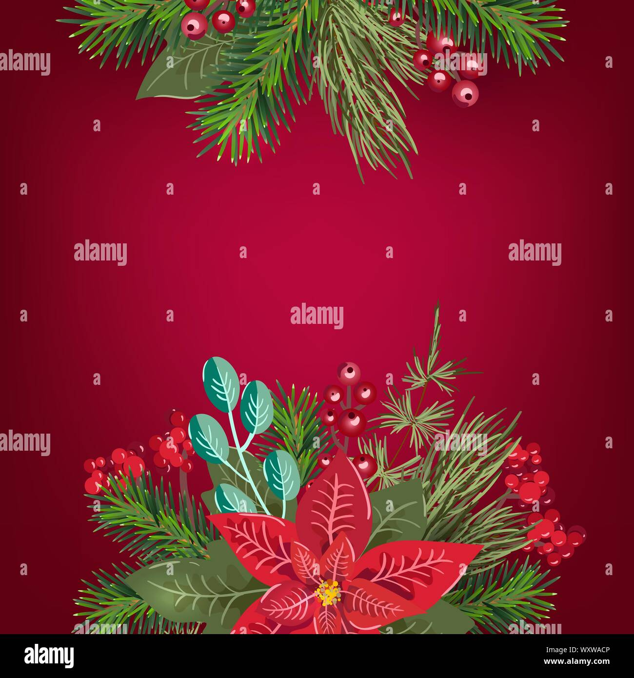 Merry Christmas Invitation And Happy New Year Party Greeting