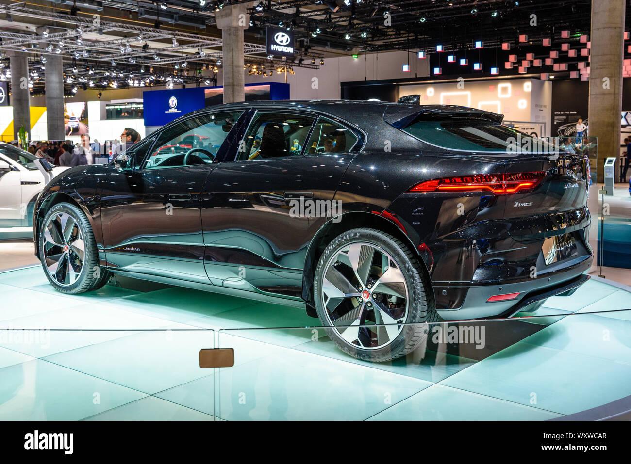 Frankfurt Germany Sept 2019 Black Jaguar I Space Is A Battery Electric Crossover Suv Produced By British Automotive Company Jaguar Land Rover Jlr Stock Photo Alamy