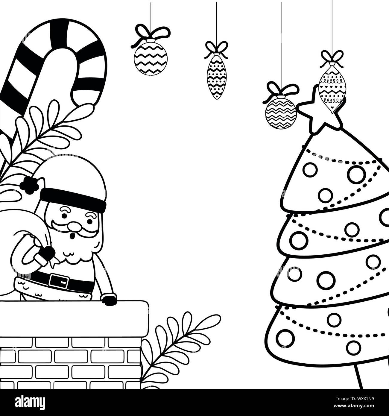 Santa Claus Design Merry Christmas Season Decoration Card Invitation Celebration And Holiday Theme Vector Illustration Stock Vector Image Art Alamy