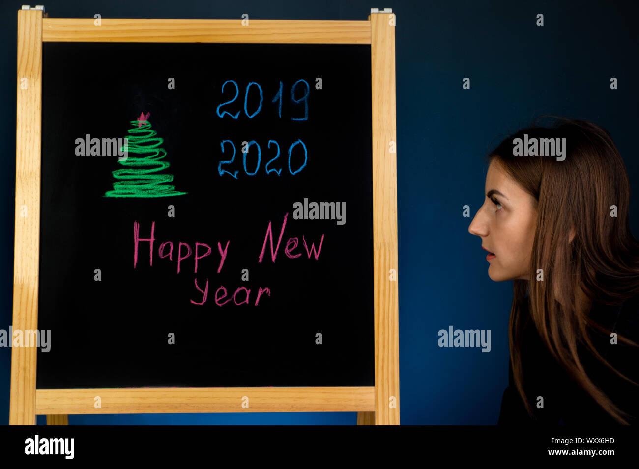 Gingerbread Man Chalkboard Blackboard Sign Chalk Message Board Christmas Decor