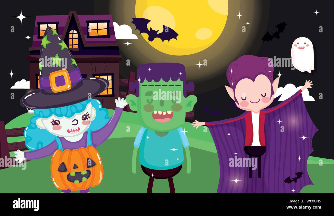 HALLOWEEN CHILDRENS PARTY ACTIVITY MAKE YOUR OWN FACE DRACULA WITCH FRANKENSTEIN