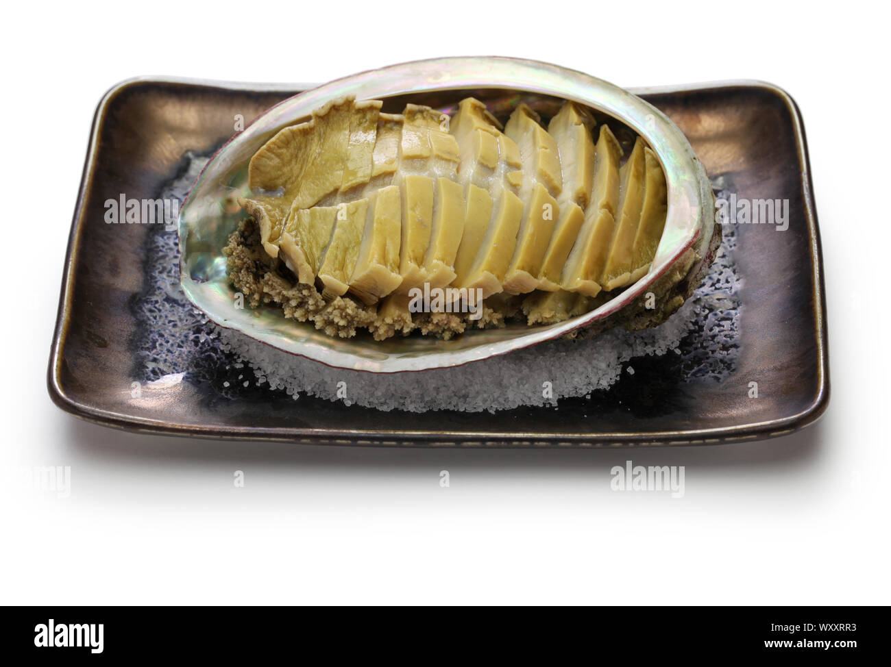steamed abalone with sake, awabi no sakamushi, japanese cuisine Stock Photo