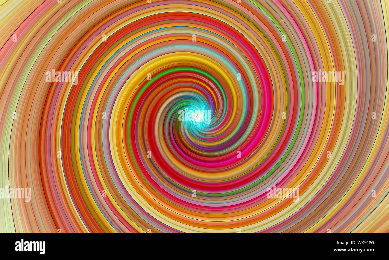 Abstract Color Background Waving Twisted Light Fibers