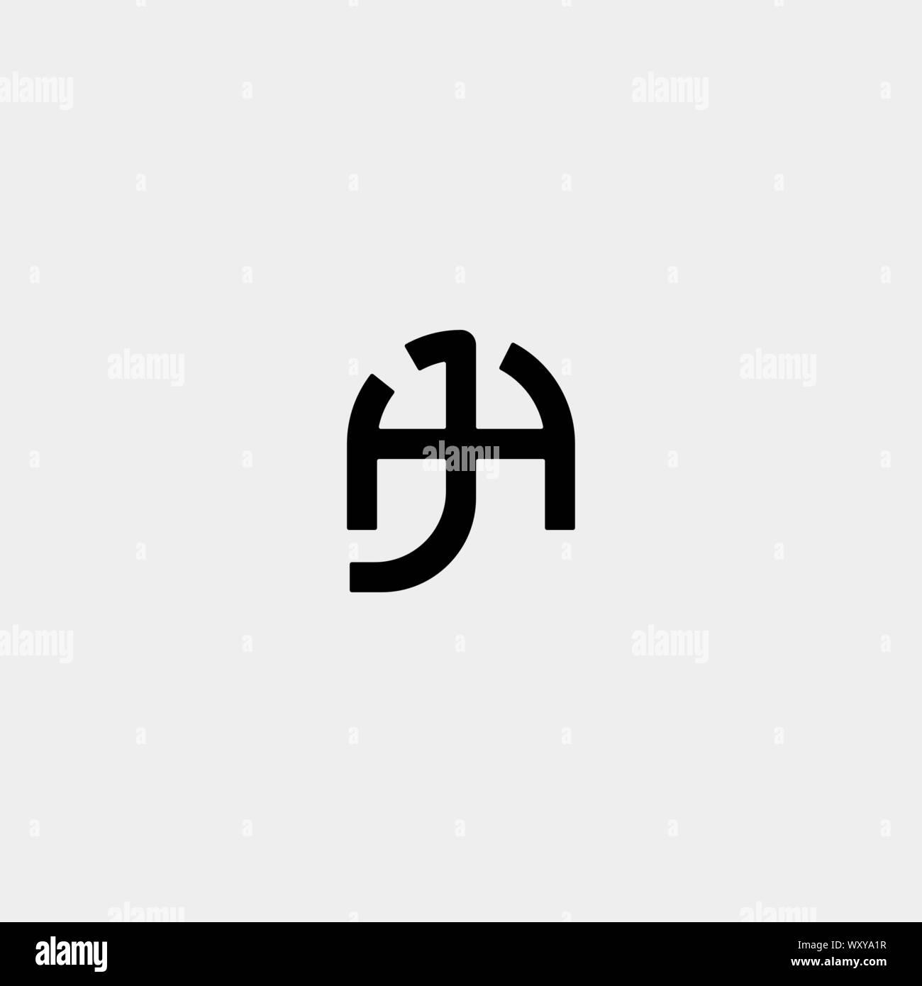 Letter Al La A L Monogram Logo Design Minimal Icon With Black Color Stock Vector Image Art Alamy