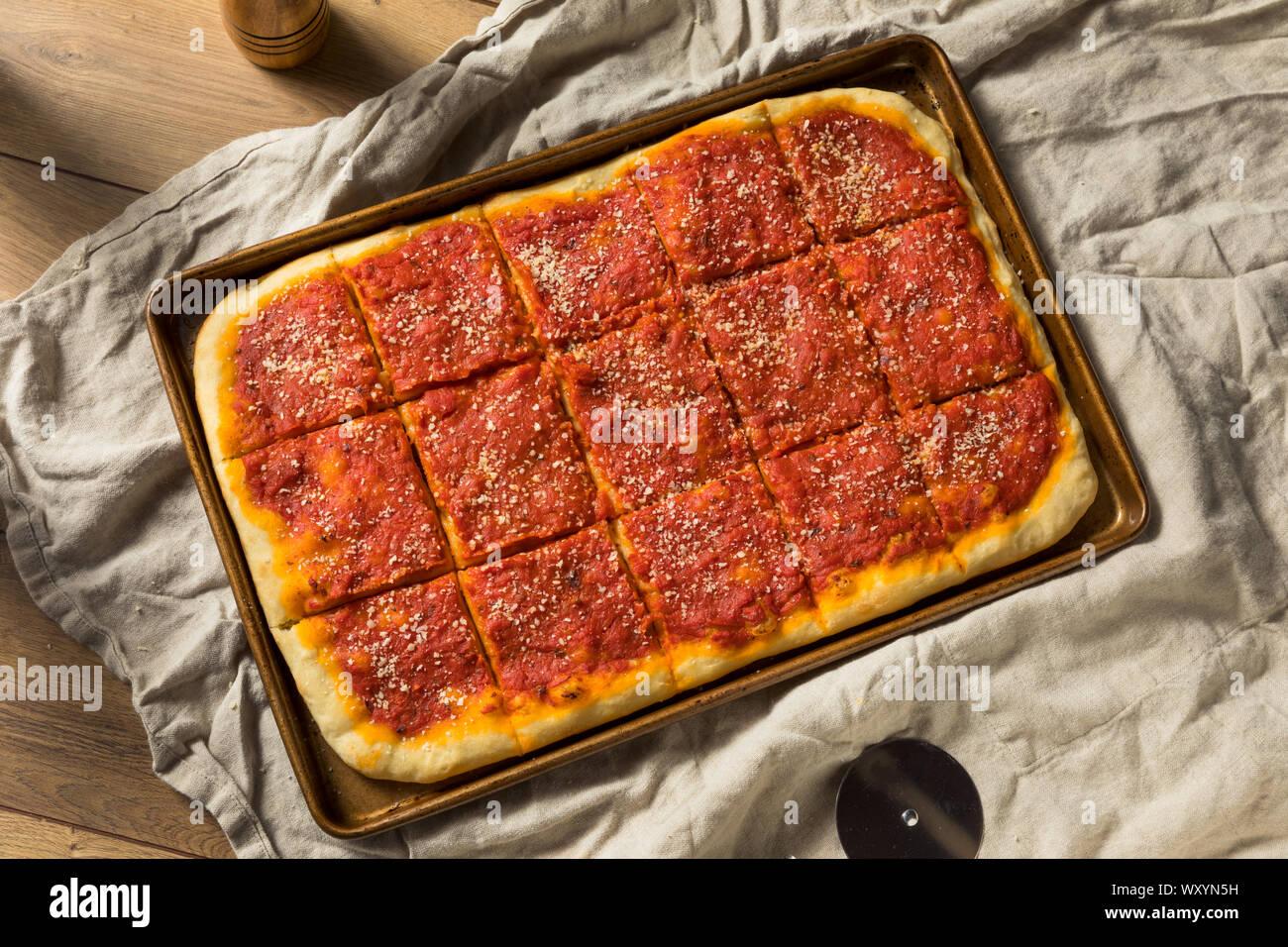 Homemade Philadelphia Tomato Pie With Grated Cheese Stock Photo Alamy