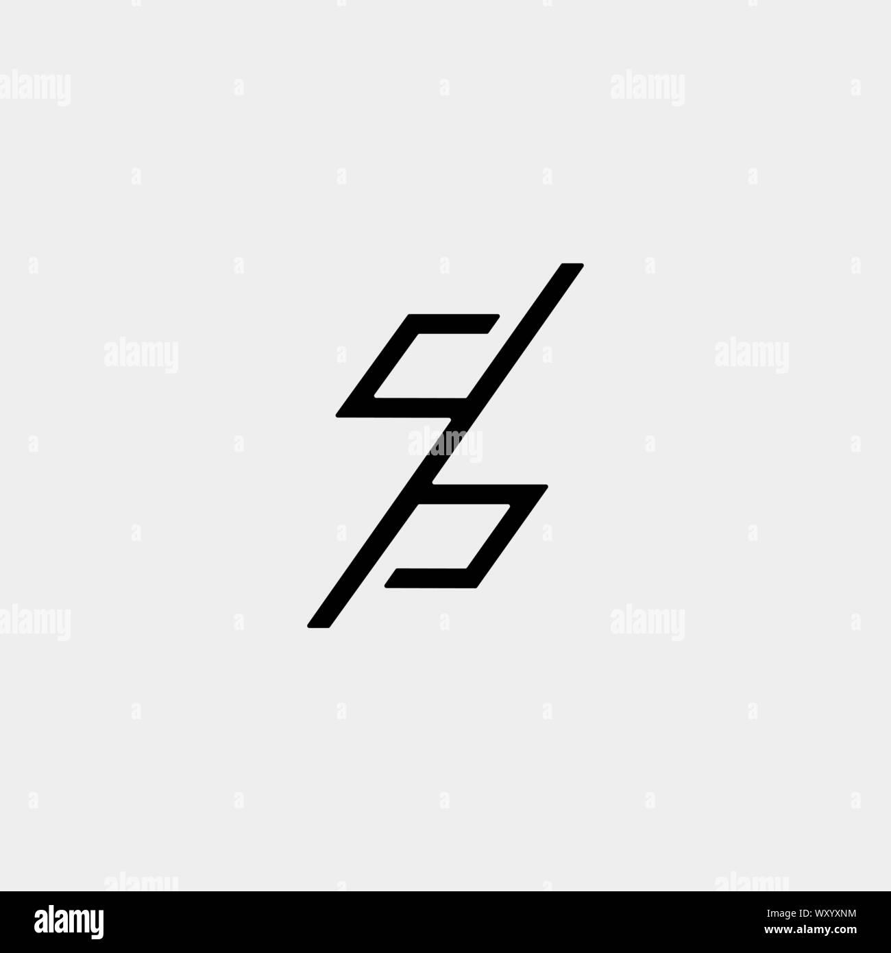Letter N NN Z ZZ Monogram Logo Design Minimal Icon With Black ...