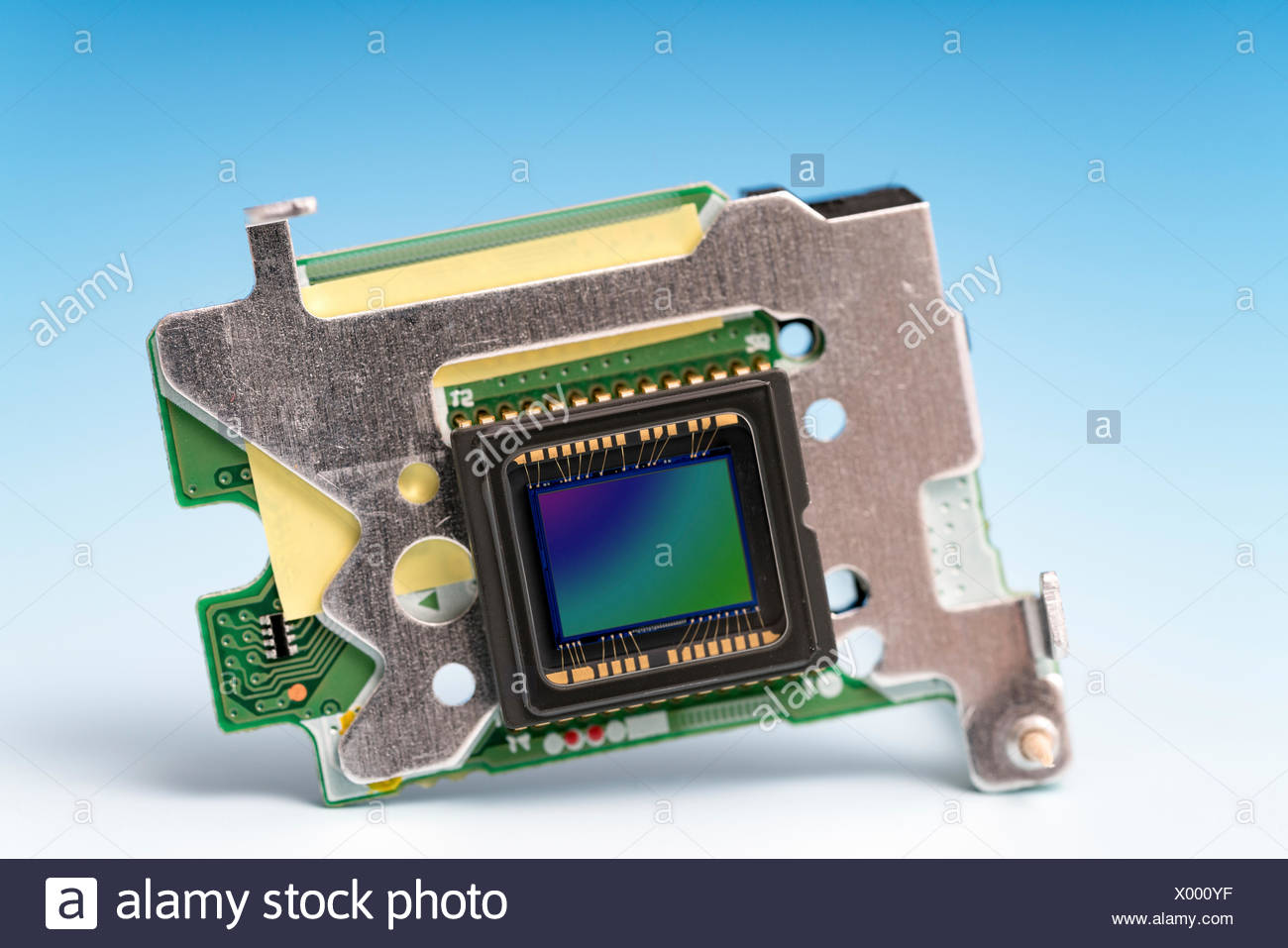 Charge coupled device, studio shot. - Stock Image