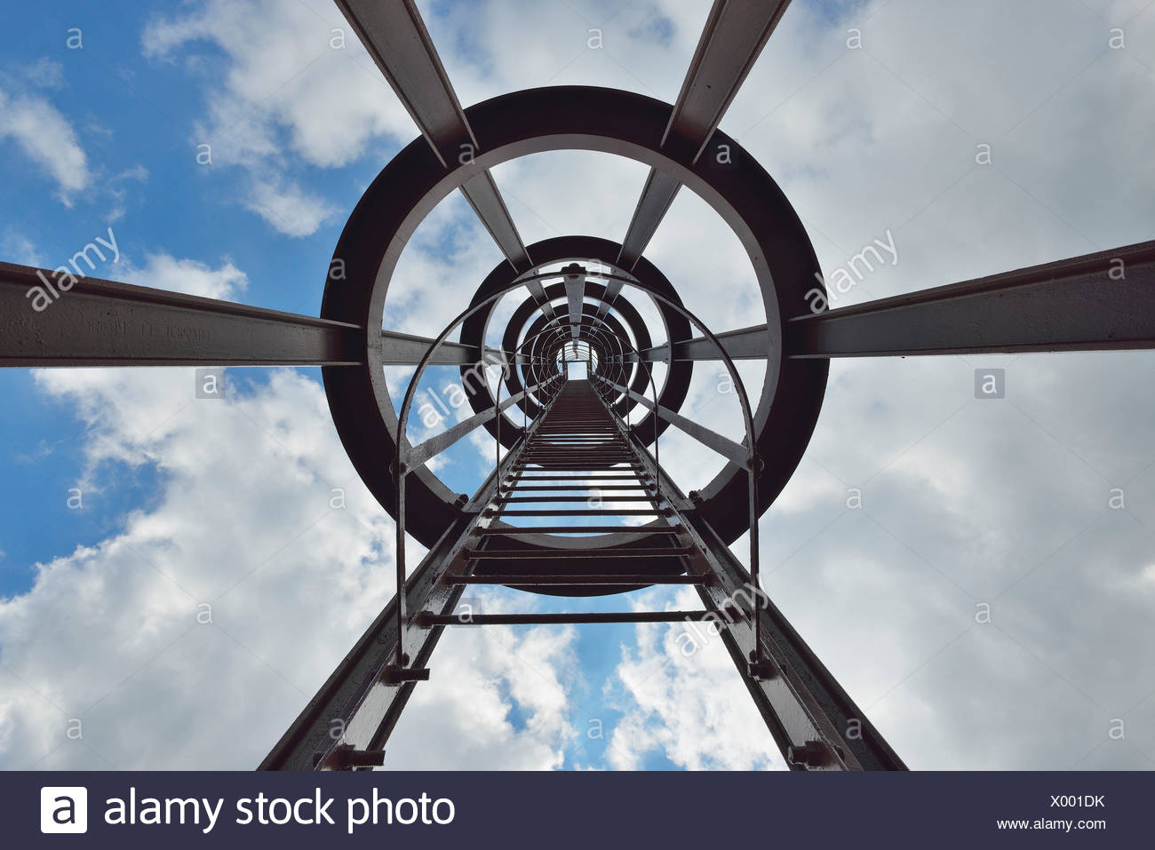 Tower, Zeche Zollverein, Essen, Ruhr Basin, North Rhine-Westphalia, Germany - Stock Image