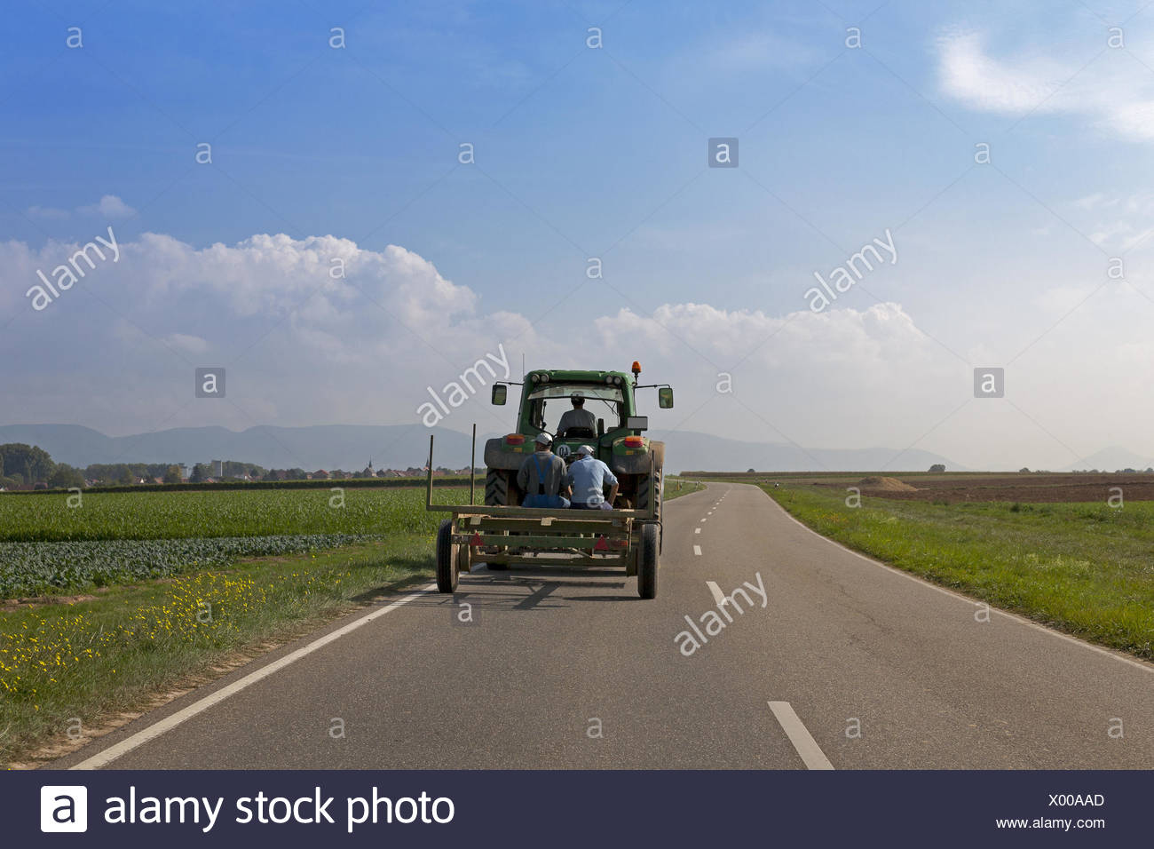 On the way to work - Stock Image