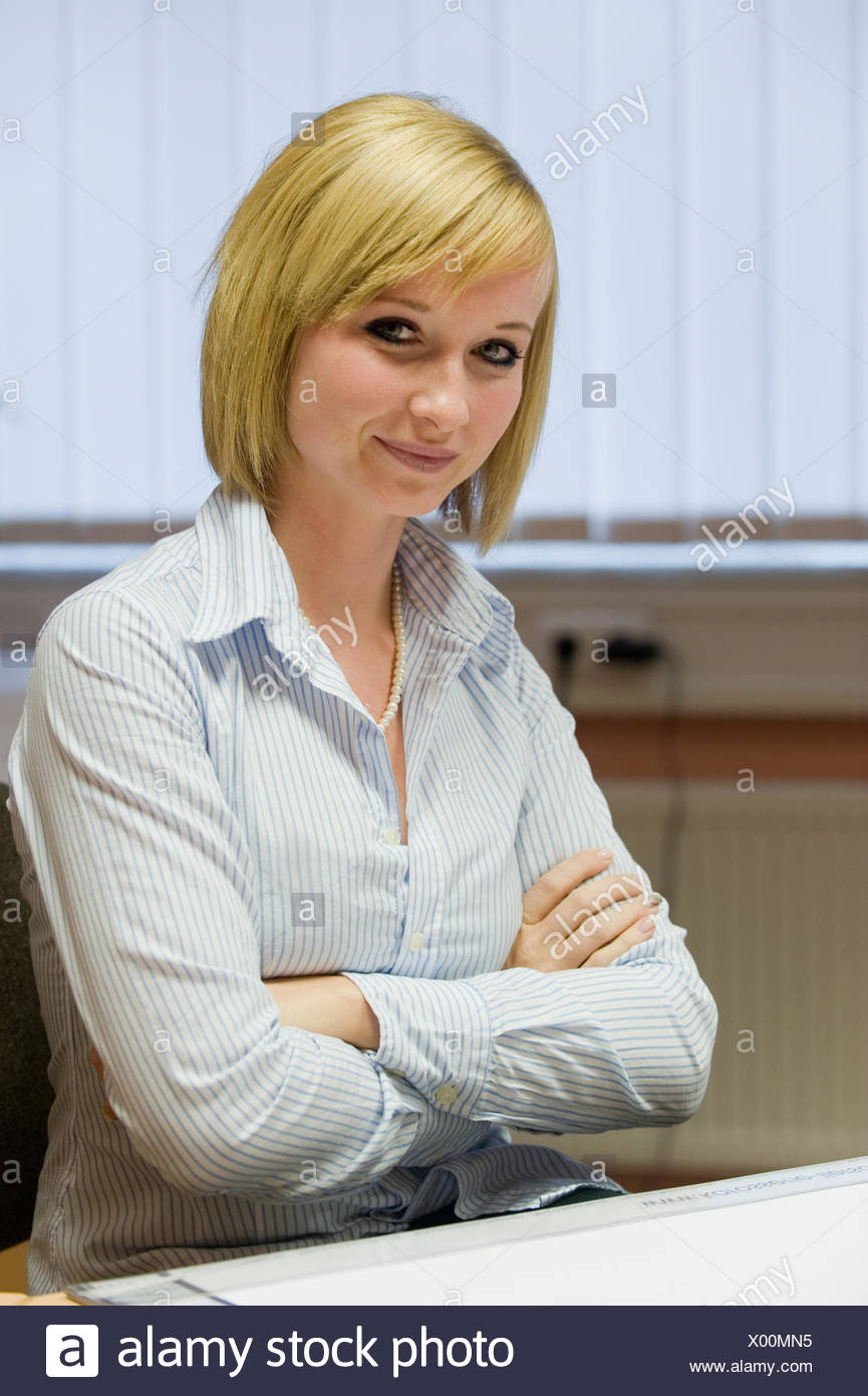 Portrait of an employee - Stock Image