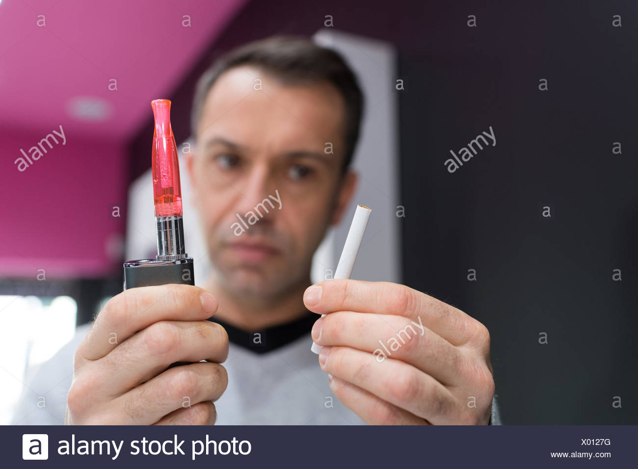 vape and cigarettes - Stock Image