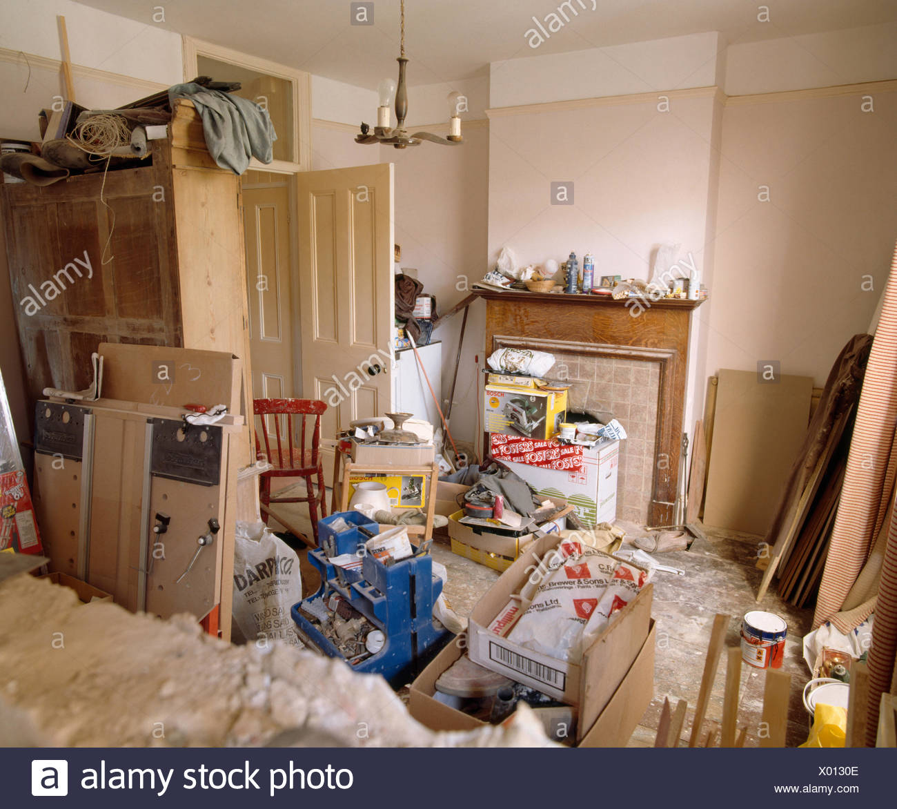 Messy Room Garbage: Cluttered Room Stock Photos & Cluttered Room Stock Images