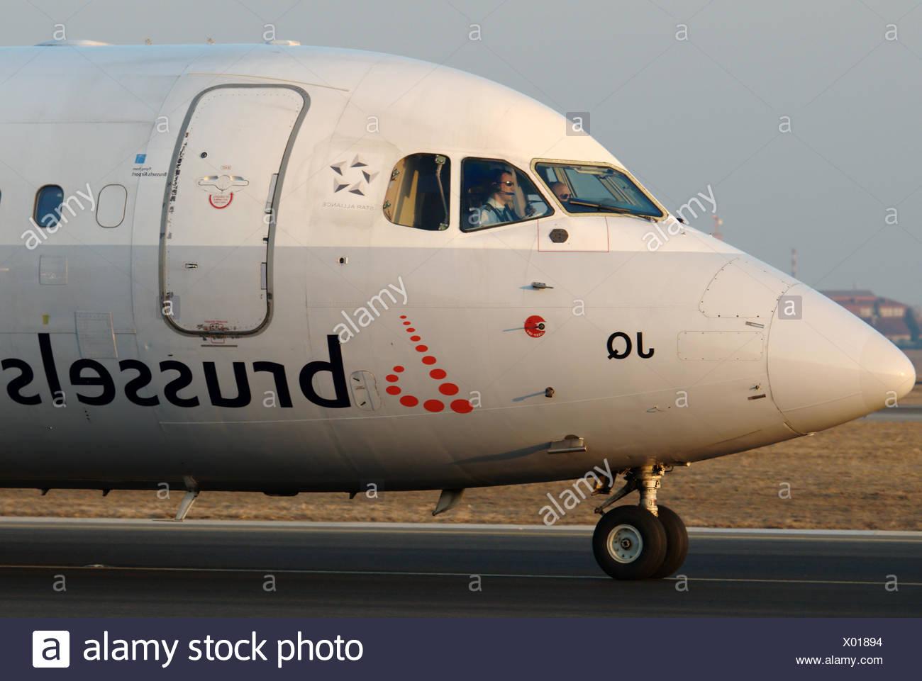 Brussels Airlines British Aerospace BAe-146 - Stock Image