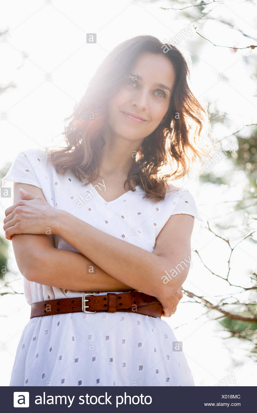 Beautiful woman posing - Stock Image