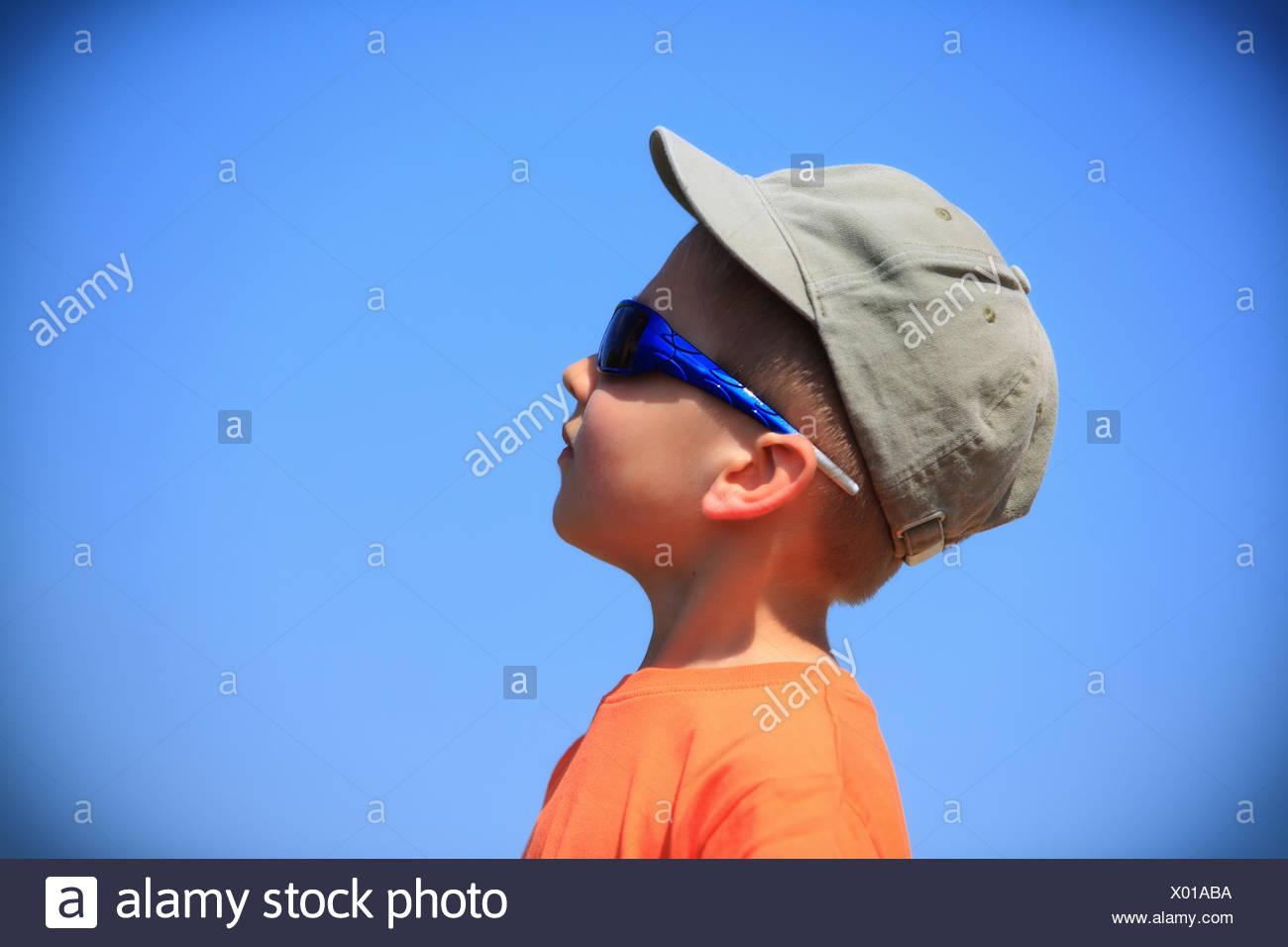 ebc0ad1721e8 Little Boy Kid Sunglasses Cap Stock Photos & Little Boy Kid ...