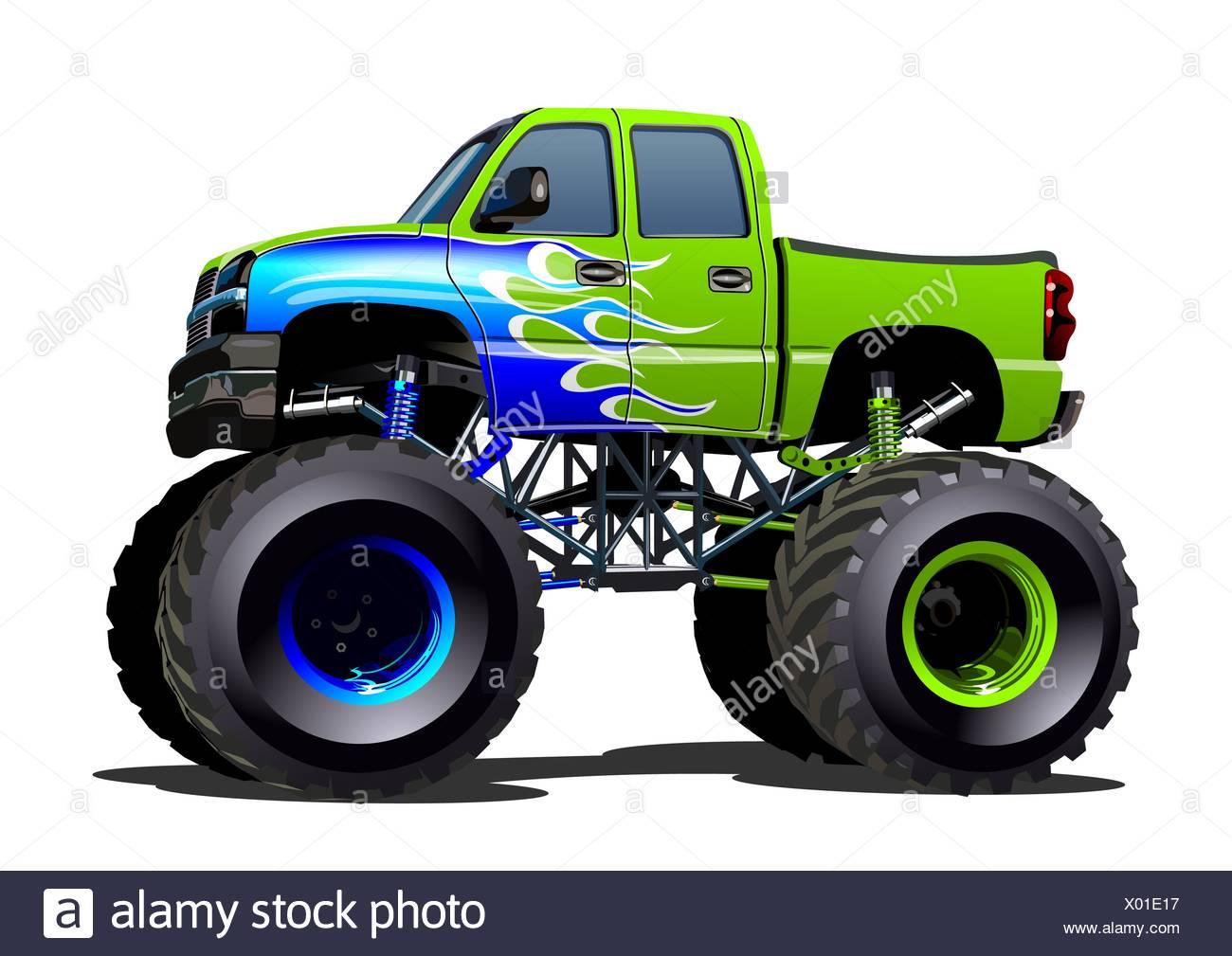 Cartoon Monster Truck Stock Photo Alamy