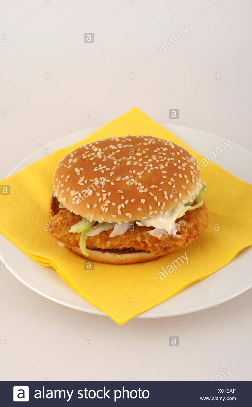 Insalubrious Cucumber Onion Food Dish Meal Fastfood Chicken Schnitzel Roll Stock Photo Alamy