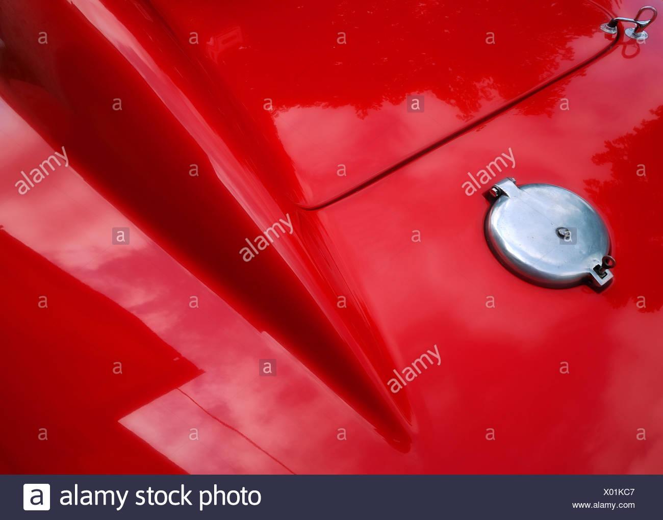 Heck eines Oldtimer Sportwagens - Stock Image