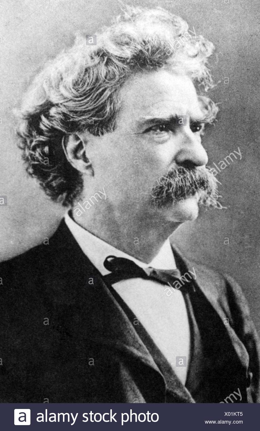 Twain, Mark, 30.11.1835 - 21.4.1910, American author / writer, humorist, portrait, Additional-Rights-Clearances-NA Stock Photo