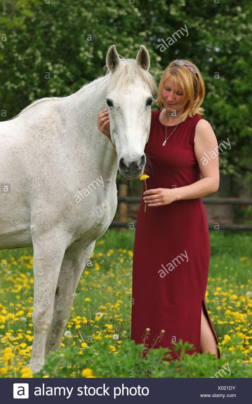 Frau pferde Frau gegen