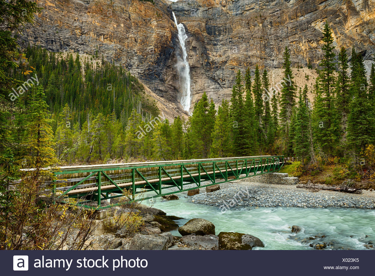 Takakkaw Falls,  Yoho National Park, British Columbia, Canada Stock Photo