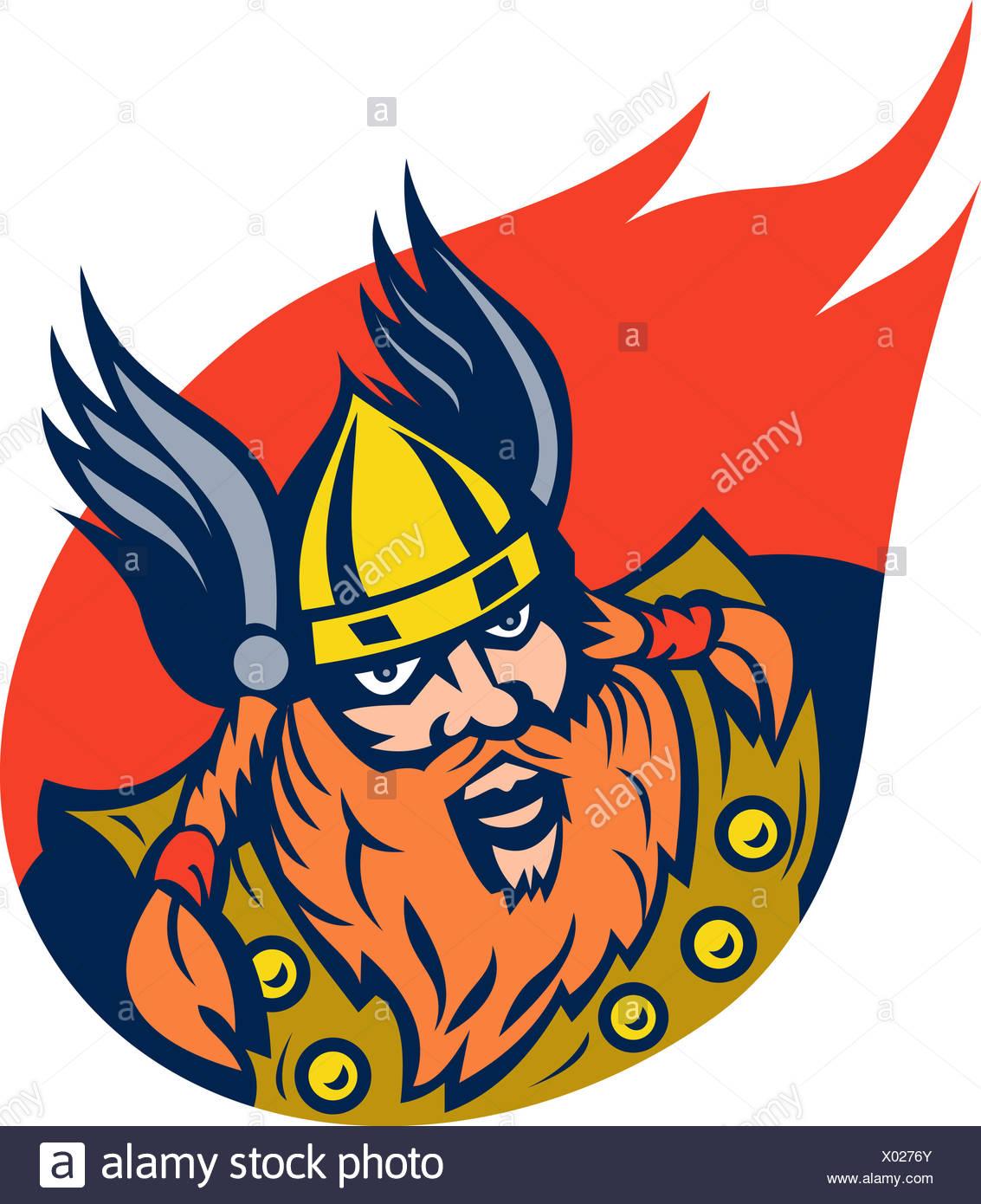 viking warrior or norse god - Stock Image