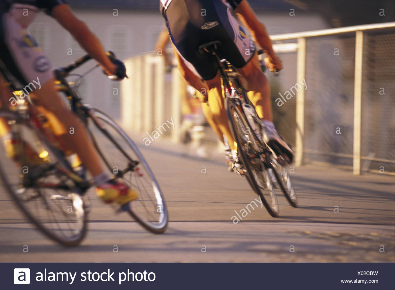 Cycle race, cyclist, bend position, curled, blur, no model