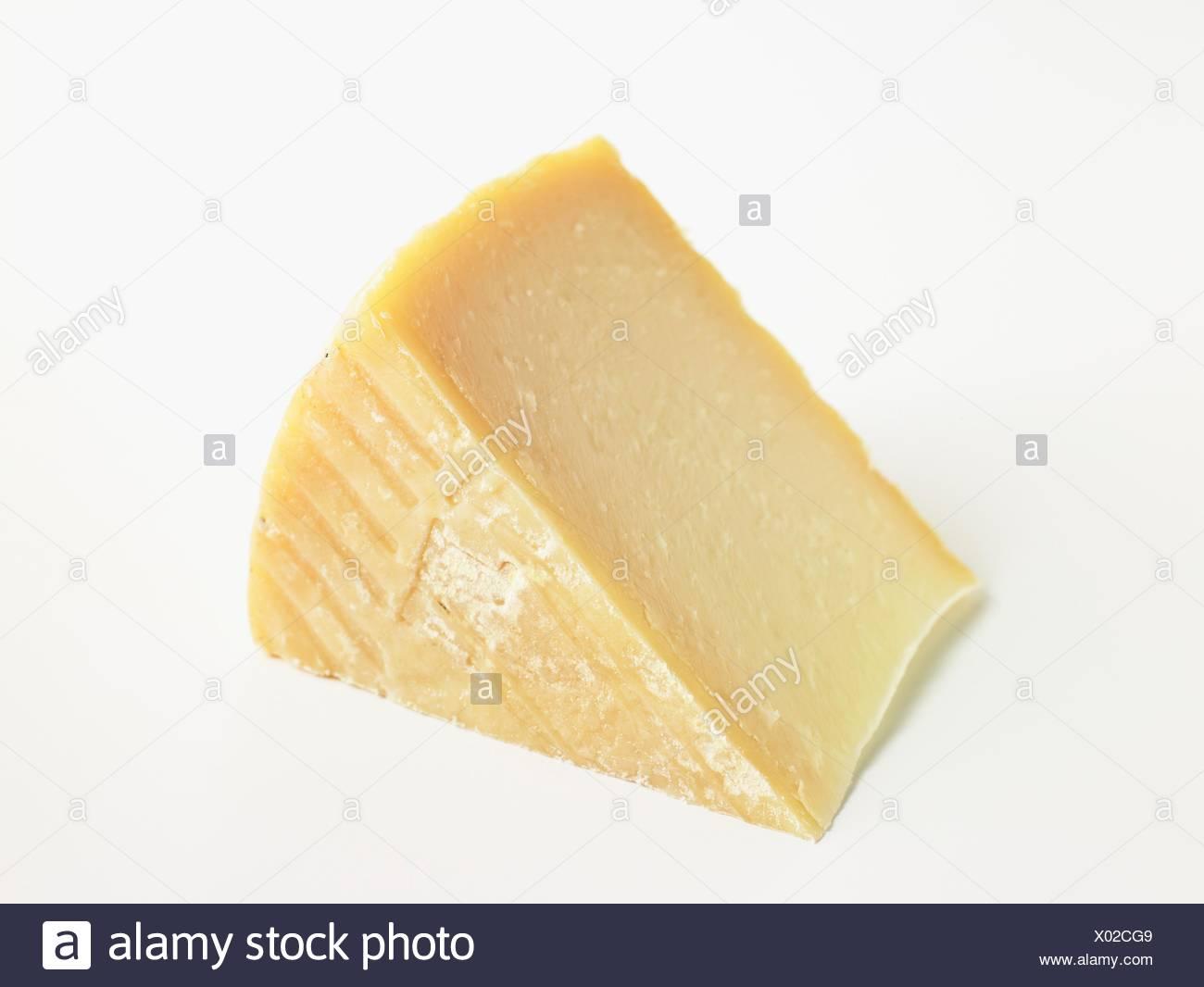 Slice of Spanish Majorero DOP goat's cheese - Stock Image