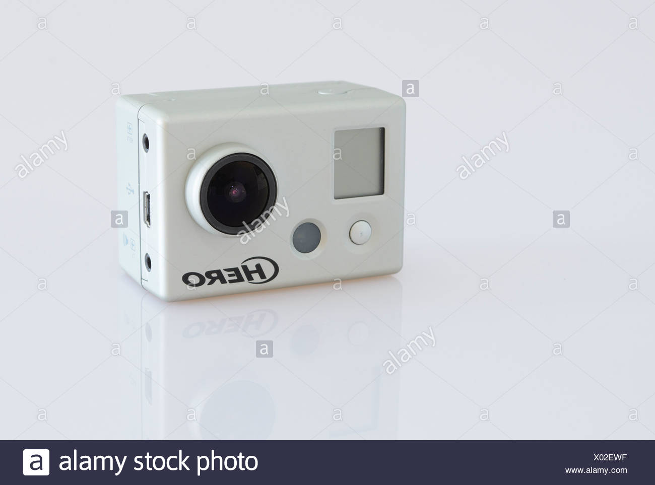 Full HD video camera, GoPro Hero Stock Photo