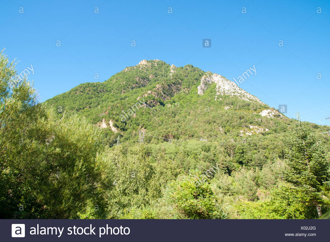 Fuerte de Sta Elena (The fort at Santa Elena), Pyrenees Mountains, Huesca province, Aragon, Spain Stock Photo